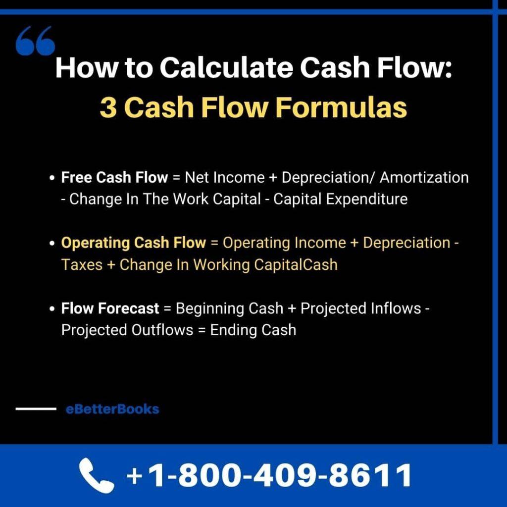 3 cash flow formulas